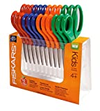 Fiskars Kids Scissors Classpack, Precision Point Tip, 12-pack (9503)