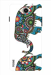 Noise Colored Royal Elephant Printed Cover for Intex Aqua Slice 2