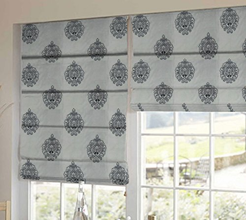 PRESTO BAZAAR 1 Piece Polyester Abstract Blind - Black