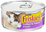 Friskies Cat Food Classic Pate, Turkey & Giblets Dinner, 5.5-Ounce Cans (Pack of 24)