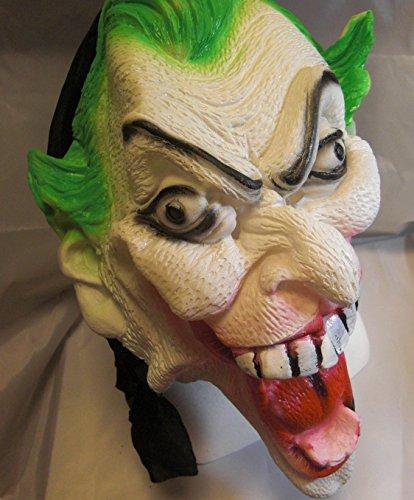 【 ハロウィン 】 恐怖 選べる 怪人 ラバー マスク  (釘貫通包帯付き) / お面 仮面 パーティー 衣装 ハロウィン おもしろ グッズ F141 フリーサイズ (しゃくれ男爵)