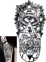 Novoskins Tattoo Artist Temporary Tattoo hand painted waterproof transfer 'Purgatory' design (21.5cm x 11.5cm) by Powave