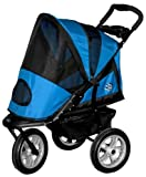 Pet Gear AT3 All-Terrain Pet Stroller for cats and dogs up to 60-pounds,  Blue Sky