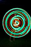 VERY Light 12oz 36 LED Hula Hoop 21 x Strobe Dragonfly Rasta