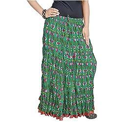 SHREEMANGALAMMART Jaipuri Multi Color Pure Cotton Skirt(Multi)(SMSKT558)