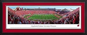Wisconsin Badgers - Camp Randall Stadium - Framed Panoramic Photo by Laminated Visuals