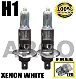 H1 55W XENON SUPER WHITE 448 HID HEADLIGHT BULBS HONDA ACCORD TYPE R