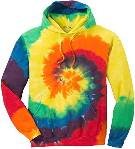 Joe's USA(tm) Hoodies Tie-Dye Hooded Sweatshirt,Medium Rainbow Tie-Dye (Tie Dye Men compare prices)