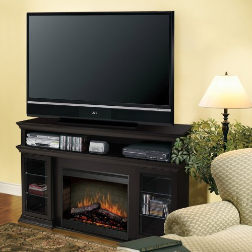 Cheap Dimplex Symphony Media Bennett TV Stand with Electric Fireplace in Espresso (SMP-155G-E-ST)