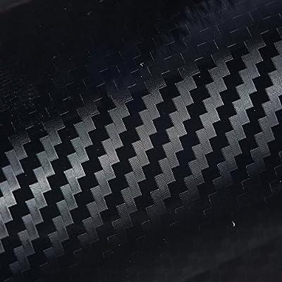Orion Motor Tech 5D Carbon Fiber Vinyl Wrap Ultra Glossy Reflective Texture For Car Black 72x60 inch