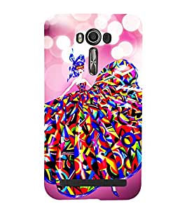 Lovely Girl Cute Fashion 3D Hard Polycarbonate Designer Back Case Cover for Asus Zenfone 2 Laser ZE601KL (6 INCHES)