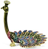 Welforth Peacock Enameled Pewter Ring/Jewelry Holder