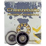 Cheezeballs Swiss Bearings - 7mm 16 Pack - Roller Derby Skate Bearings by Cheezeballs Bearings