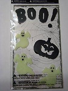 Boo! Ghost Halloween Window Gel Clings