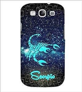 PrintDhaba Zodiac Scorpio D-2803 Back Case Cover for SAMSUNG GALAXY S3 (Multi-Coloured)