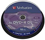 VERBATIM Spindle de 10 DVD+R DL double couche 8,5 Go 8x - surface argent mat