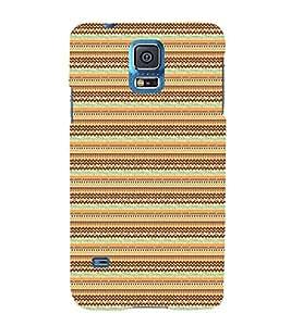 EPICCASE trendy lines Mobile Back Case Cover For Samsung Galaxy S5 Mini (Designer Case)