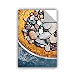"""ArtWall Elana Ray's Rusted Bowl of River Stones Appealz Removable Graphic Wall Art, 16 x 24"""", Multicolor"""