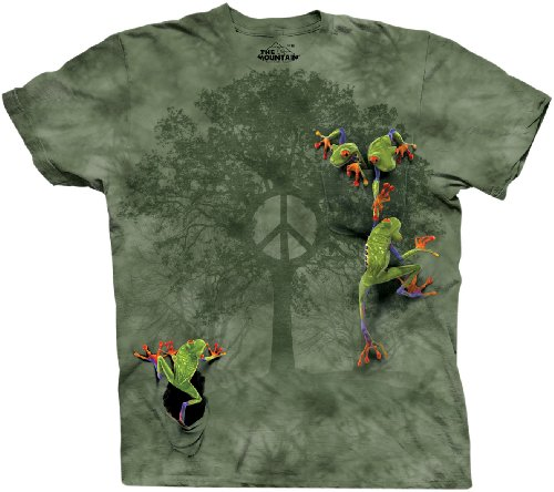 peace-frog-tree-adults-t-shirt-adult-l-fits-chest-40-inch-102-cm