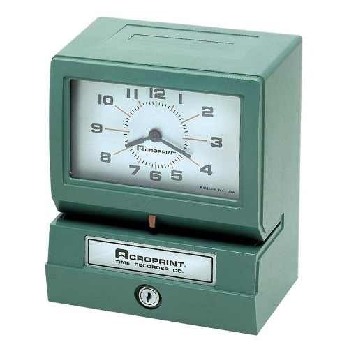 Acroprint 012070411 Electric Print Time Recorder,Records Month/Date/Hour/Minutes