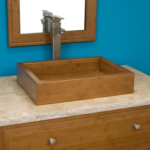 Pali Rectangular Bamboo Vessel Sink