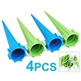 TOOGOO(R) 4 x Garden Watering Spikes Plant Waterers for Holiday Bottle Irrigation System