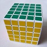 ShengShou 5x 5 x 5 V III Speed Cube Puzzle, 6.5 cm, White