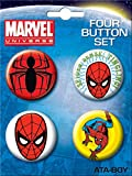 Ata-Boy Marvel Universe Spiderman 4 Button Set