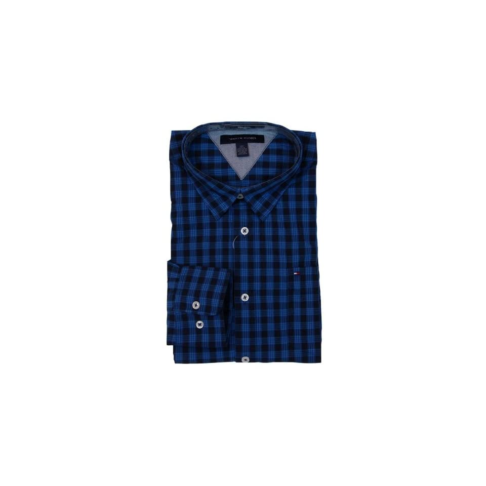 Tommy Hilfiger Mens Long Sleeve Custom Fit Button Front Shirt