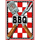 Barbeque Check Summer House Flag BBQ Picnic Table Cook Out Utensils 28