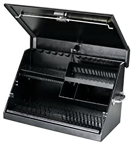 Montezuma ME300B 30-Inch by 15-Inch Steel Portable Toolbox, Black
