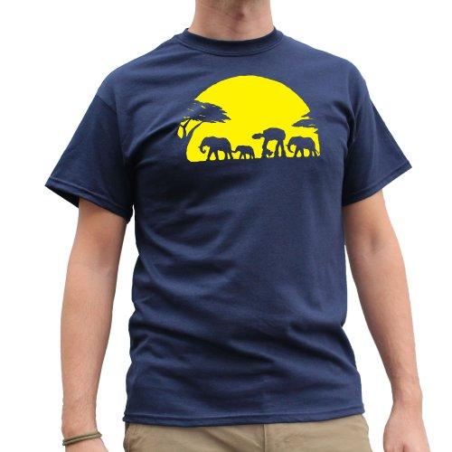 Nutees -  T-shirt - Eslogan  - Maniche corte  - Uomo Blu navy Large