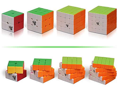 Playwin New Stickerless Cube Puzzle cube,2x2x2,3x3x3,4x4x4,5x5x5 Speed Cube Collectionn