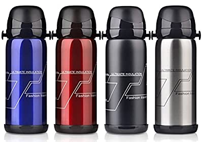 Stainless Steel Water Bottles, Coffee Mug Thermoses 27 floz/ 800 ml Color Bule,Silver,Black,Red