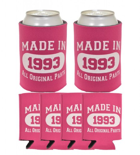 Thiswear Made 1993 Can Coolies 6 Pack Magenta front-910294