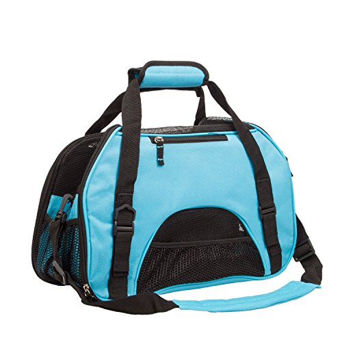 Pettom® Pet Carrier for Dogs & Cats Comfort Airline Approved Travel Tote Soft Sided Bag
