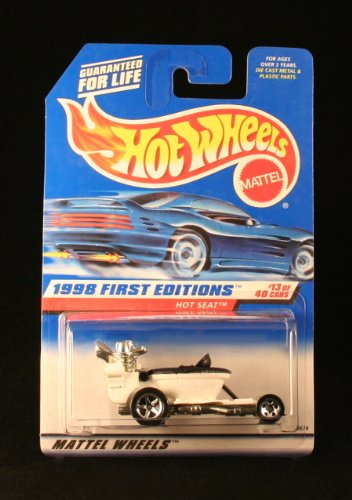 HOT SEAT * WHITE * 1998 FIRST EDITIONS SERIES #13 of 40 HOT WHEELS Basic Car 1:64 Scale Series * Collector #648 * - 1