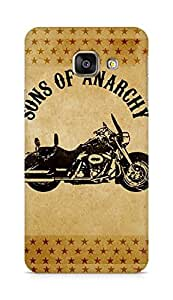 AMEZ Sons of Anarchy Motorcycle Back Cover For Samsung Galaxy A3 (2016 EDITION)