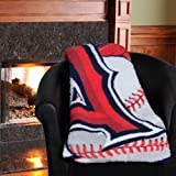 "MLB Los Angeles Angels 50-Inch-by-60-Inch Sherpa on Sherpa Throw Blanket ""Big Stick"" Design at Amazon.com"