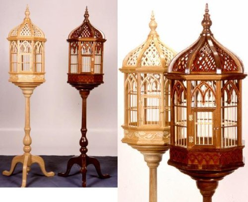 A Woodworking Scroll Saw Patterns and Instructions Plan to Build Your Own Victorian Pedestal Birdcage