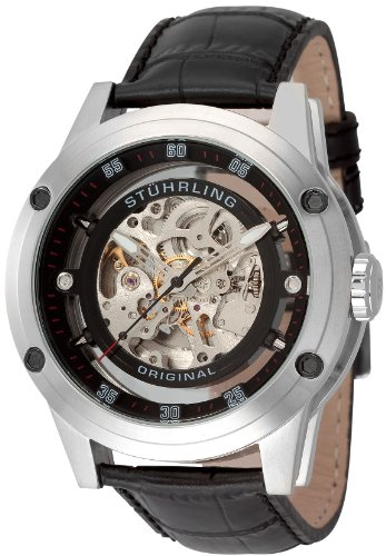 Stuhrling Original Men's 314.331513 Leisure Zeppelin 360 Automatic Skeleton Watch