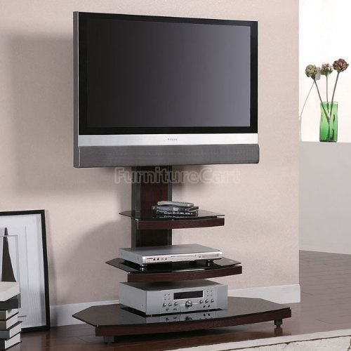 Image of Audrey TV Stand in Gunmetal Finish by Coaster Furniture (B005KBWKAM)