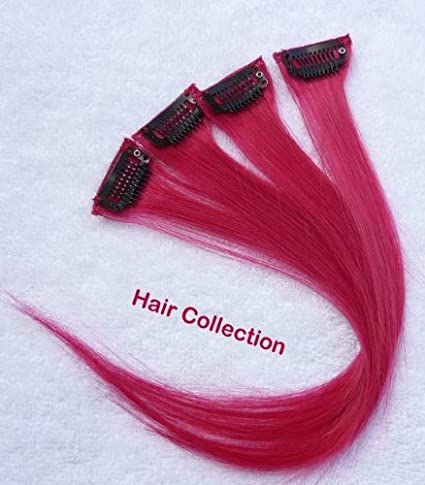 Hot Pink Clip In Hair Highlights