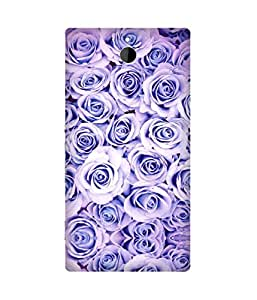 Purple Roses Printed Back Cover Case For Sony Xperia Z2