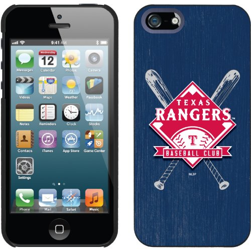 Special Sale Texas Rangers - Bats design on a Black iPhone 5 Thinshield Snap-On Case by Coveroo