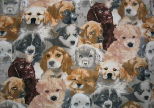 Allover Puppy Dog Fleece Throw Blanket front-577052