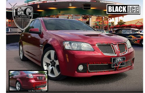 PONTIAC G8 V6 GT 2008-2009 BLACK ICE GRILLE AND REAR INSERT KIT (Pontiac G8 Grille Insert compare prices)