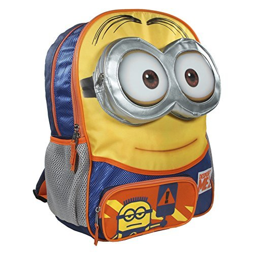 Despicable-Me-2-Big-Face-Minion-Large-School-Backpack-16-Bag-with-3d-Eye-Pocket