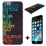 Life Quotes Pattern Hard with Screen Protector Cover for iPhone 6