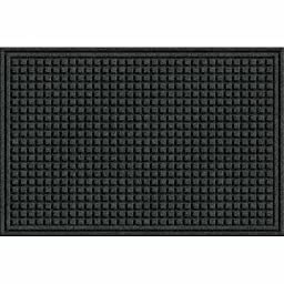 Apache Mills 78-880-1907 Eco Mat Squares Entrance Mat, Onyx, 2-feet by 3-Feet